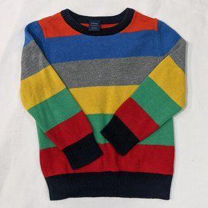 GAP Rainbow Stripe Sweater Size 3T